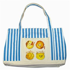 Bread Stickers Striped Blue Tote Bag by KuriSweets