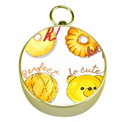 Bread Stickers Gold Compasses by KuriSweets