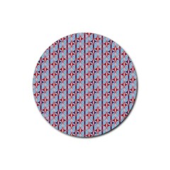 Tiger Eye Pattern 3 Rubber Coaster (round)  by Cveti