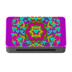 Hearts In A Mandala Scenery Of Fern Memory Card Reader With Cf by pepitasart