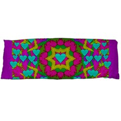 Hearts In A Mandala Scenery Of Fern Body Pillow Case Dakimakura (two Sides) by pepitasart