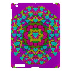Hearts In A Mandala Scenery Of Fern Apple Ipad 3/4 Hardshell Case by pepitasart