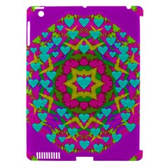 Hearts In A Mandala Scenery Of Fern Apple Ipad 3/4 Hardshell Case (compatible With Smart Cover) by pepitasart