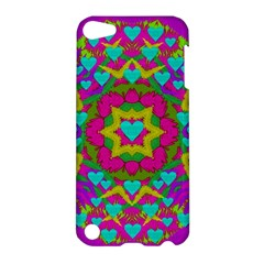 Hearts In A Mandala Scenery Of Fern Apple Ipod Touch 5 Hardshell Case by pepitasart