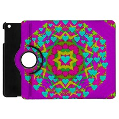 Hearts In A Mandala Scenery Of Fern Apple Ipad Mini Flip 360 Case by pepitasart