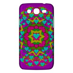 Hearts In A Mandala Scenery Of Fern Samsung Galaxy Mega 5 8 I9152 Hardshell Case  by pepitasart