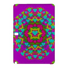 Hearts In A Mandala Scenery Of Fern Samsung Galaxy Tab Pro 10 1 Hardshell Case by pepitasart