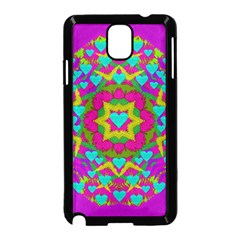 Hearts In A Mandala Scenery Of Fern Samsung Galaxy Note 3 Neo Hardshell Case (black) by pepitasart