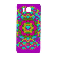 Hearts In A Mandala Scenery Of Fern Samsung Galaxy Alpha Hardshell Back Case by pepitasart