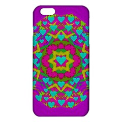 Hearts In A Mandala Scenery Of Fern Iphone 6 Plus/6s Plus Tpu Case by pepitasart