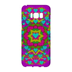 Hearts In A Mandala Scenery Of Fern Samsung Galaxy S8 Hardshell Case  by pepitasart