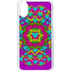 Hearts In A Mandala Scenery Of Fern Apple Iphone X Seamless Case (white) by pepitasart