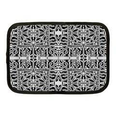 Dark Oriental Ornate Pattern Netbook Case (medium)  by dflcprints