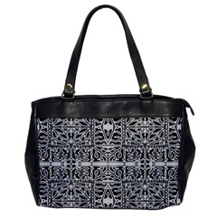 Dark Oriental Ornate Pattern Office Handbags by dflcprints