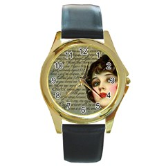 Vintage 1047247 1280 Round Gold Metal Watch by vintage2030