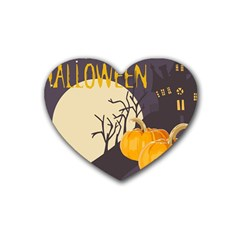 Halloween 979495 1280 Rubber Coaster (heart)  by vintage2030