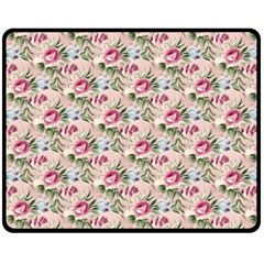 Cute Floral 218a Double Sided Fleece Blanket (medium)  by MoreColorsinLife