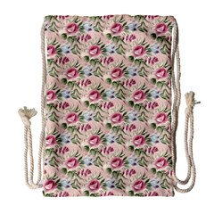 Cute Floral 218a Drawstring Bag (large) by MoreColorsinLife