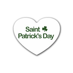 St  Patricks Day  Rubber Coaster (heart)  by Valentinaart