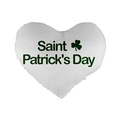 St  Patricks Day  Standard 16  Premium Heart Shape Cushions by Valentinaart