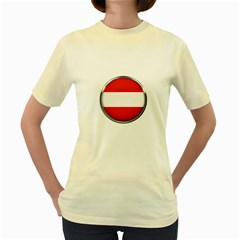 Austria Country Nation Flag Women s Yellow T Shirt