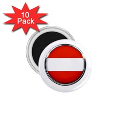 Austria Country Nation Flag 1 75  Magnets (10 Pack)  by Nexatart