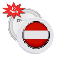 Austria Country Nation Flag 2 25  Buttons (10 Pack)  by Nexatart