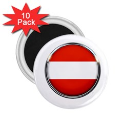 Austria Country Nation Flag 2 25  Magnets (10 Pack)
