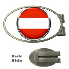Austria Country Nation Flag Money Clips (oval)
