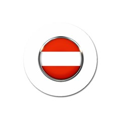 Austria Country Nation Flag Magnet 3  (round)