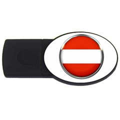 Austria Country Nation Flag Usb Flash Drive Oval (2 Gb) by Nexatart