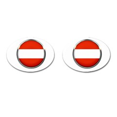 Austria Country Nation Flag Cufflinks (oval) by Nexatart