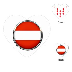 Austria Country Nation Flag Playing Cards (heart)