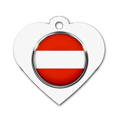 Austria Country Nation Flag Dog Tag Heart (two Sides)