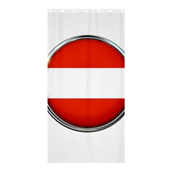 Austria Country Nation Flag Shower Curtain 36  X 72  (stall)