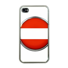 Austria Country Nation Flag Apple Iphone 4 Case (clear)