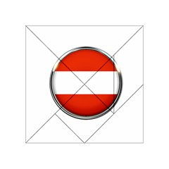 Austria Country Nation Flag Acrylic Tangram Puzzle (4  X 4 ) by Nexatart