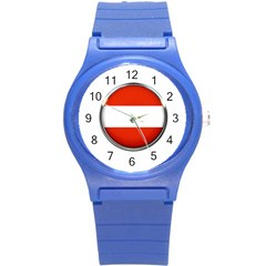 Austria Country Nation Flag Round Plastic Sport Watch (s)