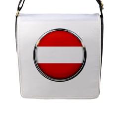 Austria Country Nation Flag Flap Messenger Bag (l)