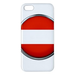 Austria Country Nation Flag Iphone 5s/ Se Premium Hardshell Case