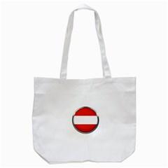 Austria Country Nation Flag Tote Bag (white)