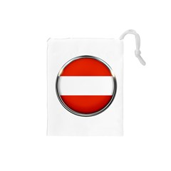Austria Country Nation Flag Drawstring Pouches (small)