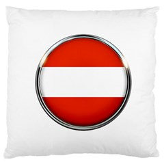 Austria Country Nation Flag Large Flano Cushion Case (one Side)