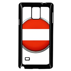 Austria Country Nation Flag Samsung Galaxy Note 4 Case (black)