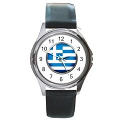 Greece Greek Europe Athens Round Metal Watch