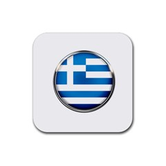 Greece Greek Europe Athens Rubber Square Coaster (4 Pack)