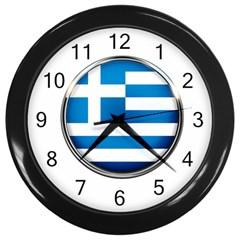Greece Greek Europe Athens Wall Clocks (black)