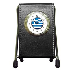 Greece Greek Europe Athens Pen Holder Desk Clocks