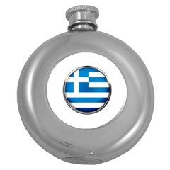 Greece Greek Europe Athens Round Hip Flask (5 Oz)