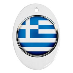 Greece Greek Europe Athens Oval Ornament (two Sides)